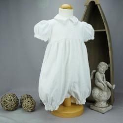 Barboteuse baptême blanche VINCENT