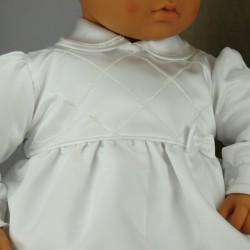 Barboteuse de baptême blanche ref. BBML11
