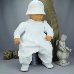 Barboteuse de baptême blanche ref. BBML12