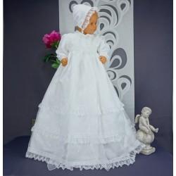 Robe longue de baptême traditionnelle blanche bébé CLAIRE