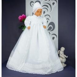 Robe longue de baptême traditionnelle blanche bébé CHRIS