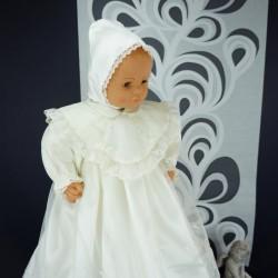 Robe longue de baptême traditionnelle ivoire bébé VERA