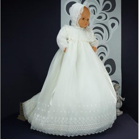 Robe longue de baptême traditionnelle VALENTINE