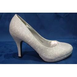 Chaussures cérémonie femme strass argent