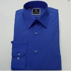 Chemise cérémonie garçon col normal BLEU ROI
