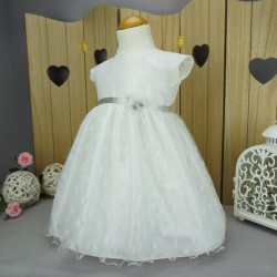 Robe baptême blanche bébé fille PO 1025MC