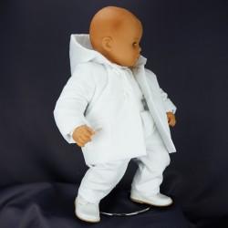 Costume de baptême garçon blanc 3 pièces  JULES