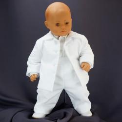 Costume de baptême garçon blanc 3 pièces REMI