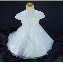 Robe cérémonie baptême blanche bébé fille PO 1031MC