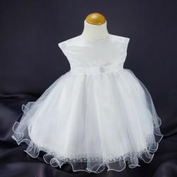 Robe baptême blanche bébé fille  PO 1032MC