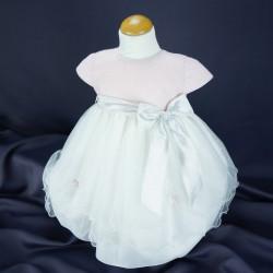 Robe cérémonie baptême bébé fille PO 1011MC