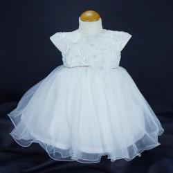 Robe cérémonie baptême blanche bébé fille PO 1028MC
