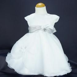 Robe cérémonie baptême blanche bébé fille PO 1006MC