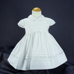 Robe cérémonie baptême blanche bébé fille PO 1016MC