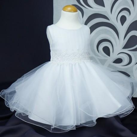 dc72ffc167bf0 Robe princesse cérémonie mariage bébé fille blanche en tulle pailletée