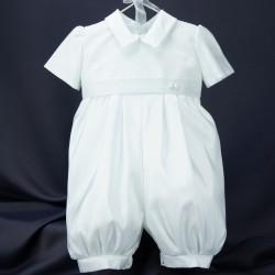 Barboteuse de baptême blanche JADEN 1