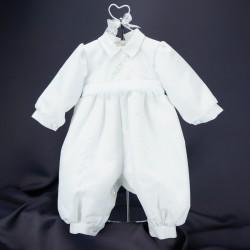 Barboteuse de baptême blanche ref. BBML14