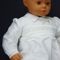 Barboteuse de baptême blanche ref. BBML10