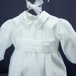 Barboteuse de baptême blanche ref. BBML13