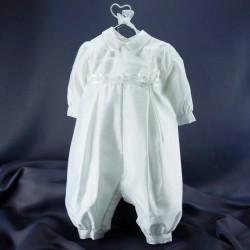 Barboteuse de baptême blanche ref. BBML16