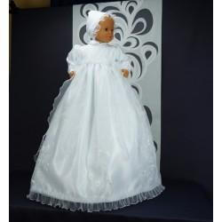 Robe longue de baptême traditionnelle blanche bébé ANAELLE