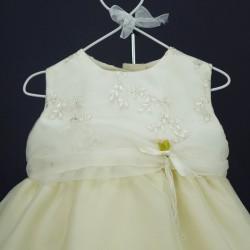 Robe cérémonie bébé RISM 02 ivoire/jaune