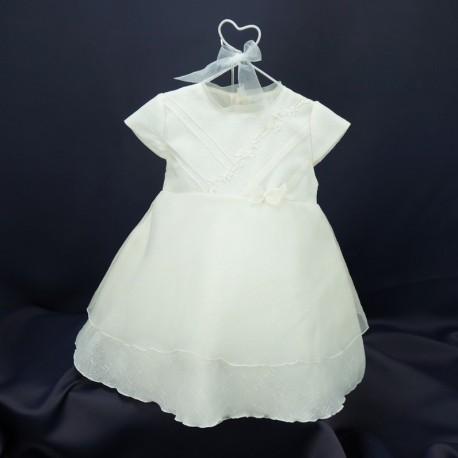 16a4850f4acdd Robe bébé cérémonie mariage baptême cortège ivoire blanc cassé beige