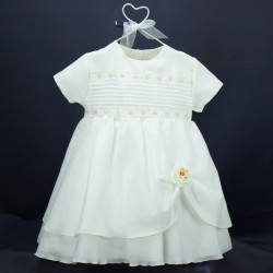 Robe cérémonie bébé RIMC 30 beige