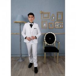 """Costume garçon 3 pièces """"Les Petits Mecs"""" FRANCOIS blanc"""