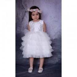 Robe Cérémonie baptême bébé blanche ALINE - Ezda