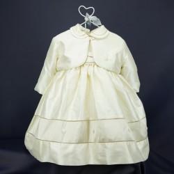 Ensemble robe et boléro cérémonie bébé fille RIML 62PU
