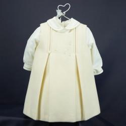 Ensemble chemise et robe cérémonie bébé manches longues RIML 65PU